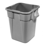 40 Gallon Square Rubbermaid Brute Waste Receptacles - Gray