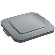 Flat Lid For 40 Gallon Square Rubbermaid Brute Waste Receptacles - Gray