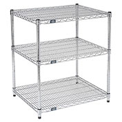 Printer Stand Chrome Wire 3 Shelves