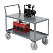 Jamco 2 Shelf All-Welded Heavy Duty Service Cart SL248 48 x 24 1200 Lb. Capacity