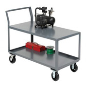 Jamco 2 Shelf All-Welded Heavy Duty Service Cart SL248 48x24 2400 Lb. Cap