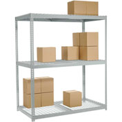 "Wide Span Rack 60""W x 24""D x 96""H With 3 Shelves Wire Deck 1200 Lb Capacity Per Level"