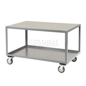 Jamco All Welded Portable Steel Table LB472 2 Shelves 72x36 1200 Lb. Capacity