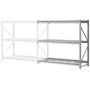"Extra High Capacity Bulk Rack With Wire Decking 72""W x 36""D x 120""H Add-On"