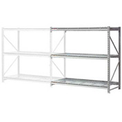"Extra High Capacity Bulk Rack With Wire Decking 96""W x 24""D x 120""H Add-On"