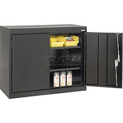 Sandusky Elite Series Desk Height Storage Cabinet EA11361830 - 36x18x30, Black