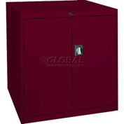 Sandusky Elite Series Counter Height Storage Cabinet EA2R361842 - 36x18x42, Burgundy