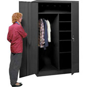 Lyon Combination Storage Cabinet KK1099  - 36x24x78 - Black