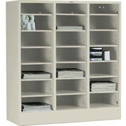 Tennsco Literature Organizer Cabinet 4075 216 - 21 Openning Letter Size - Champagne Putty