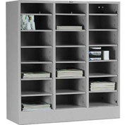 Tennsco Literature Organizer Cabinet 5075 053 - 21 Openning Legal Size - Light Grey