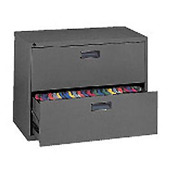 "Extra Value 2 Drawer Lateral File Cabinet 36""W X 26-5/8""H - Black"