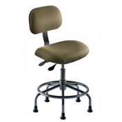 "BioFit Operator Chair - Multifunctional Control- Height 18 - 22"" - Black Fabric - Black Powder Coat"