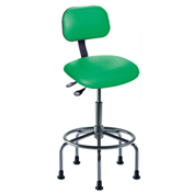 "Bio Fit Eton ET Series Manager Stool with Black Base, 25""-30"" Seat Height, Navy Fabric"