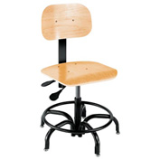 "Shop Stool - Wood - Height Adjustable 15"" - 20"""