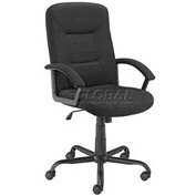 Office Chair with Arms - Fabric - High Back - Black
