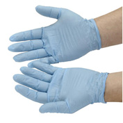 Disposable Nitrile Gloves, Powdered, Medium, Blue, 100/Box