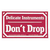 Delicate Instruments Don't Drop Labels 3x5