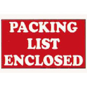 Packing List Enclosed Labels 3x5