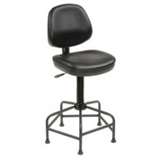 Antimicrobial Shop Stool - Vinyl - Black
