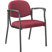 Guest Chair with Arms - Fabric - Burgundy - Pinehurst Collection