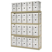 "Record Storage Open Witih Boxes 72""W x 15""D x 84""H"