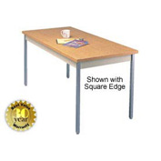 "Utility Table - 30""W X 60""L - Oak with Radius Edge"