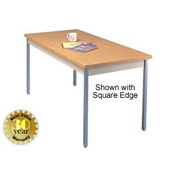 "Utility Table - 36""W X 72""L - Oak with Radius Edge"