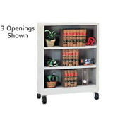 "Sandusky Steel Mobile Bookcase 36""W x 18""D x 36""H - Gray"