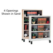 "Sandusky Steel Mobile Bookcase 36""W x 18""D x 58""H - Black"