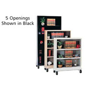 "Sandusky Steel Mobile Bookcase 36""W x 18""D x 78""H - Putty"