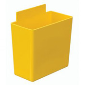 Quantum Little Bin QBC111 for Plastic Stacking Bins - 1-3/4 x 3-1/4 x 3 Yellow - Pkg Qty 48