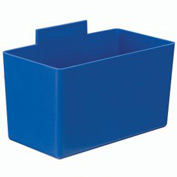 Quantum Little Bin QBC112  for Plastic Stacking Bins - 2-3/4 x 5-1/4 x 3 Blue - Pkg Qty 48