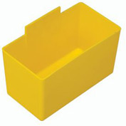 Quantum QBC112 Little Inner Bin Cup for Plastic Stacking Bins - 2-3/4 x 5-1/4 x 3 Yellow - Pkg Qty 48