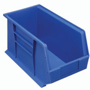 Quantum Hanging & Stacking Storage Bin QUS265 8-1/4 x 18 x 9 Blue - Pkg Qty 6