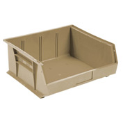 Quantum Stackable Storage Bin QUS245 16-1/2 x 10-7/8 x 5 Beige - Pkg Qty 6