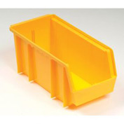 Plastic Stacking Bin 8-1/4x11x7 Yellow - Pkg Qty 6
