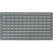 Louvered Wall Panel Without Bins 18x19 Gray - Pkg Qty 4
