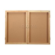 United Visual Products Bulletin Board Two Door