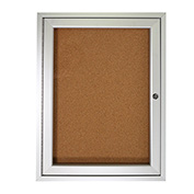 "Ghent® Bulletin Board One Door - 24""W X 36""H"