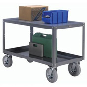Portable Steel Table 2 Shelves 72x36 1200 Lb. Capacity Unassembled