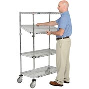 Nexel® E-Z Adjust Wire Shelf Truck 36x18x60 1200 Pound Capacity