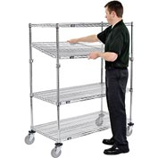 Nexel® E-Z Adjust Wire Shelf Truck 48x24x60 1200 Pound Capacity