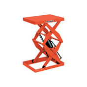 PrestoLifts™ Power Double Scissor Lift Table DXS30-10 Foot Control 1000 Lb. Cap.