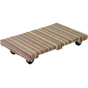 Akro-Mils® Premium Hardwood Dolly Fully Carpeted Deck 1200 Lb. Capacity RD3624AC4P