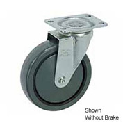 "Faultless Swivel Plate Caster 499-3RB 3"" Polyurethane Wheel with Brake"