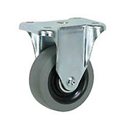 "Faultless Rigid Plate Caster 7793-3-1/2 3-1/2"" TPR Wheel"