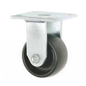 "Faultless Rigid Plate Caster 7760S-4 4"" Polyolefin Wheel"