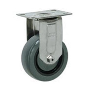 "Faultless Stainless Steel Rigid Plate Caster S8796-4 4"" Polyurethane Wheel"