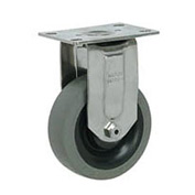 "Faultless Stainless Steel Rigid Plate Caster S8790-5 5"" TPR Wheel"