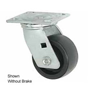 "Faultless Swivel Plate Caster 1431-6RB 6"" Phenolic Wheel with Brake"